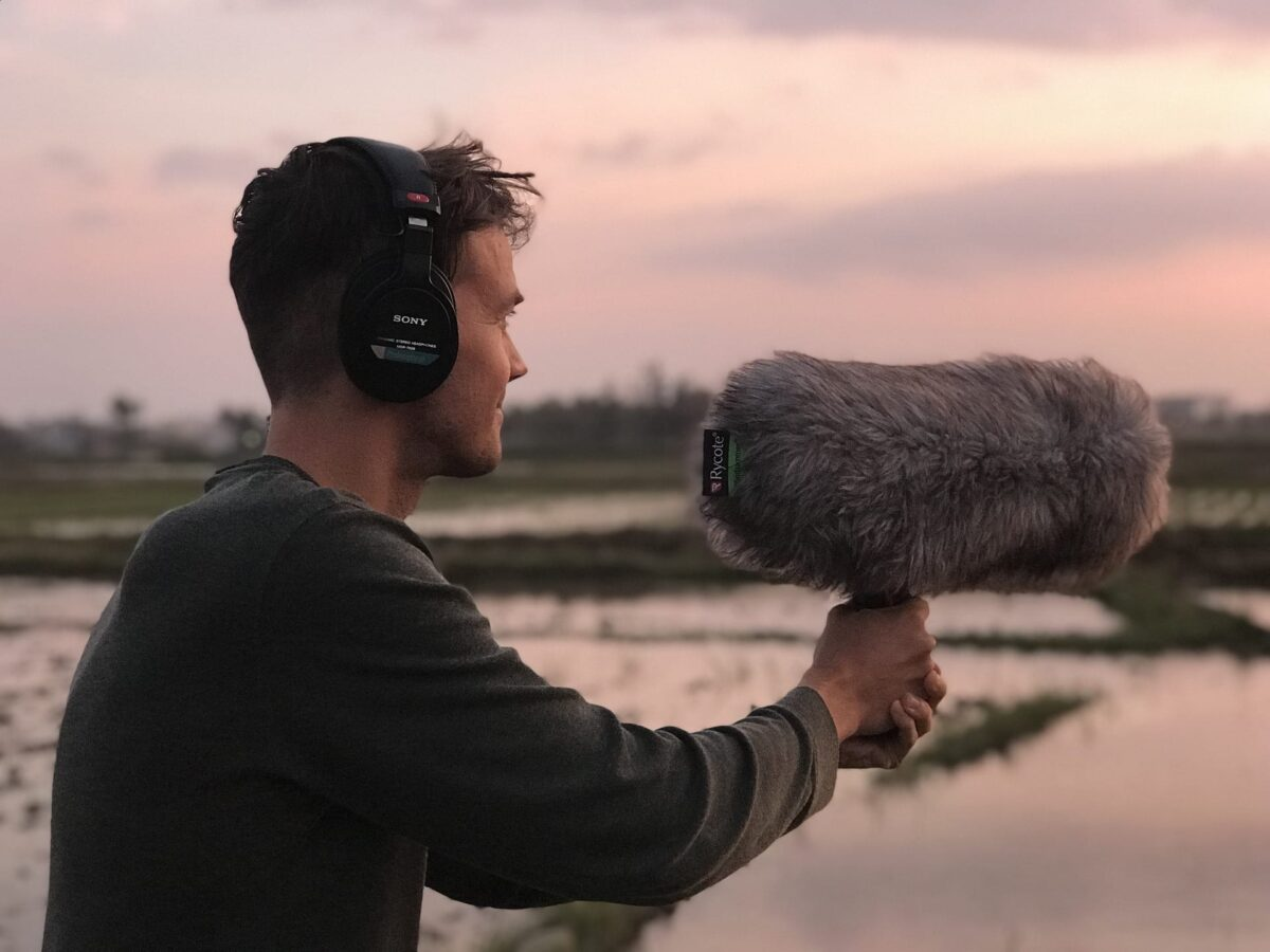 Location Recording Man and Rycote