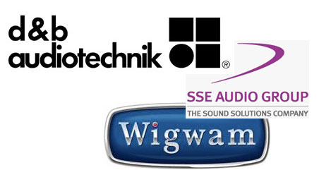 d&b SSE and Wigwam logos