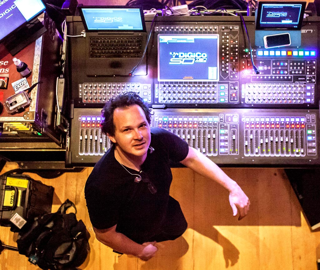 Jamie Hickey Monitor Engineer and DIGICo SD Console