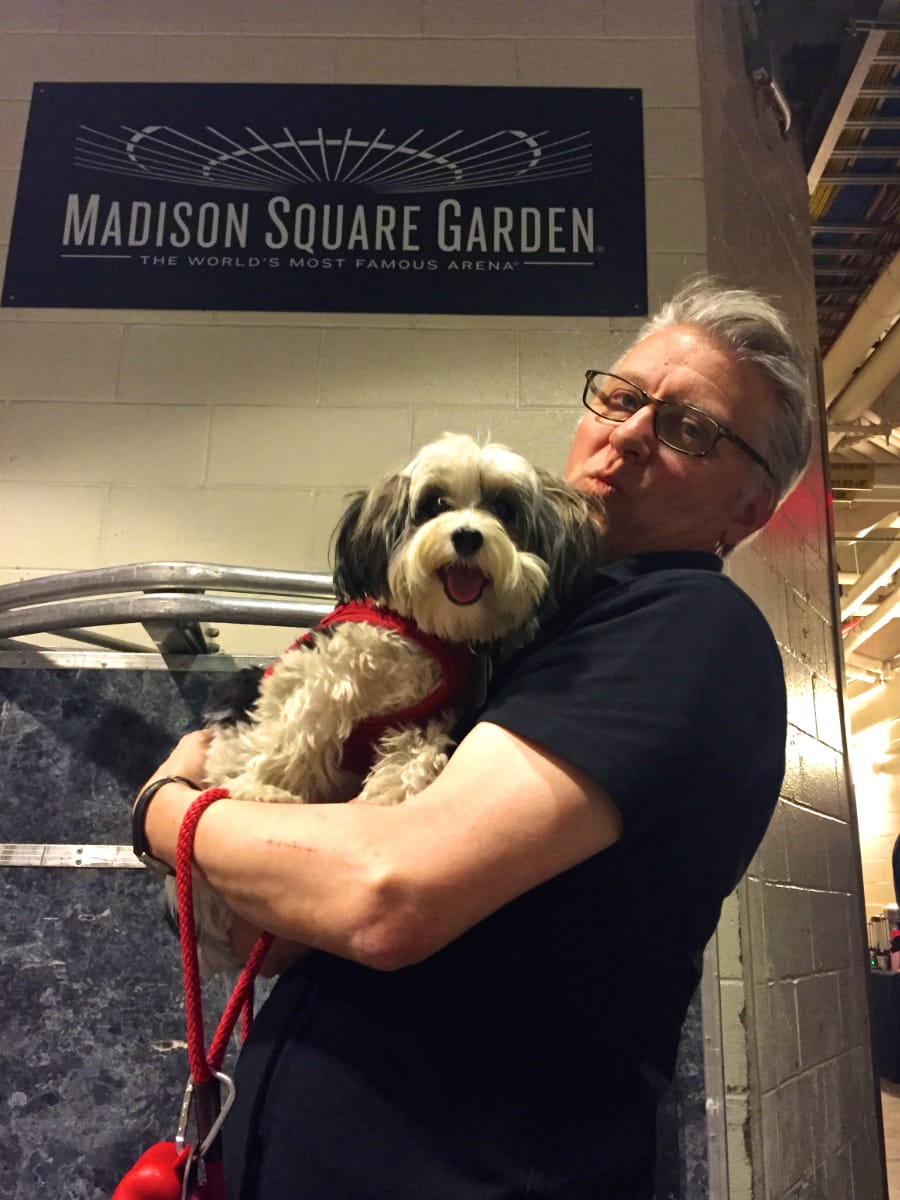 Georgie Girl is happy to be at MSG